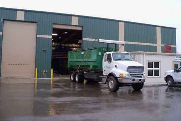 Truck at WWRA facility